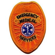 EMS Reflective Badge Patch Gold