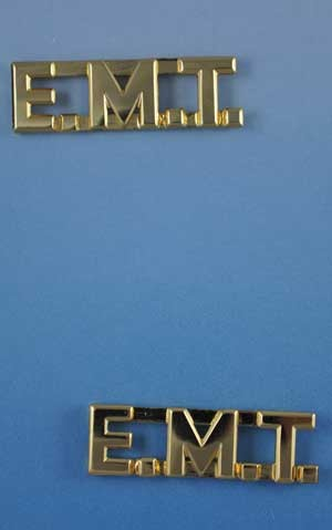"E.M.T. Letters Pin Sold in Pairs 1/2"" Inch"
